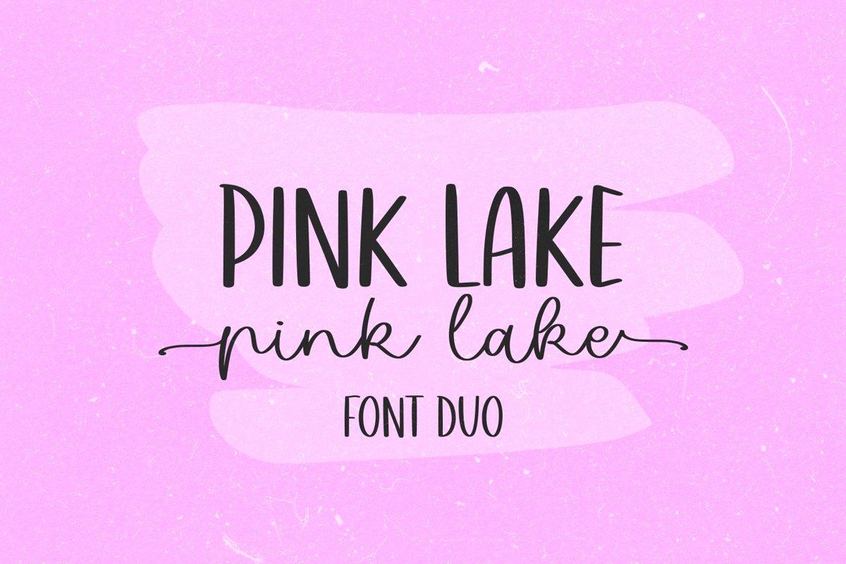 Pink Lake Font Duo example image 1