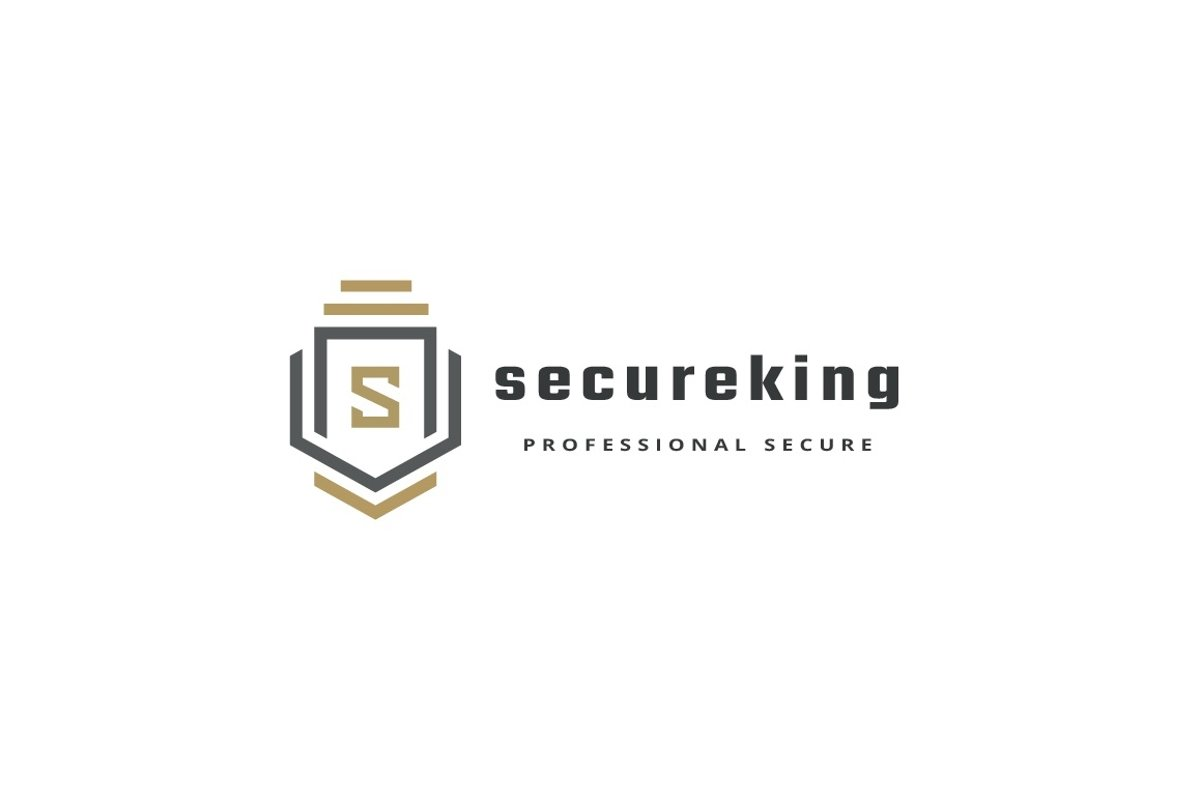 Secure King Letter S Logo example image 1