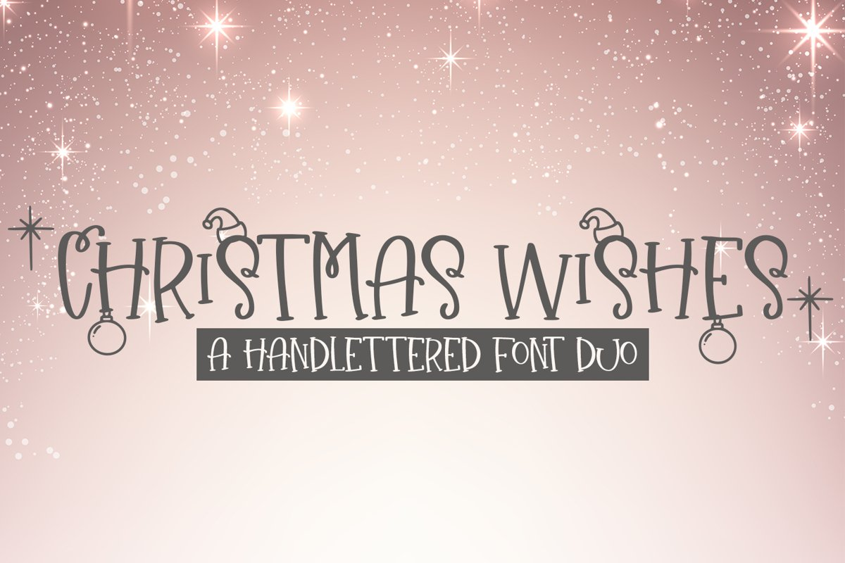 Christmas Wishes - A Christmas Handlettered Font Duo example image 1