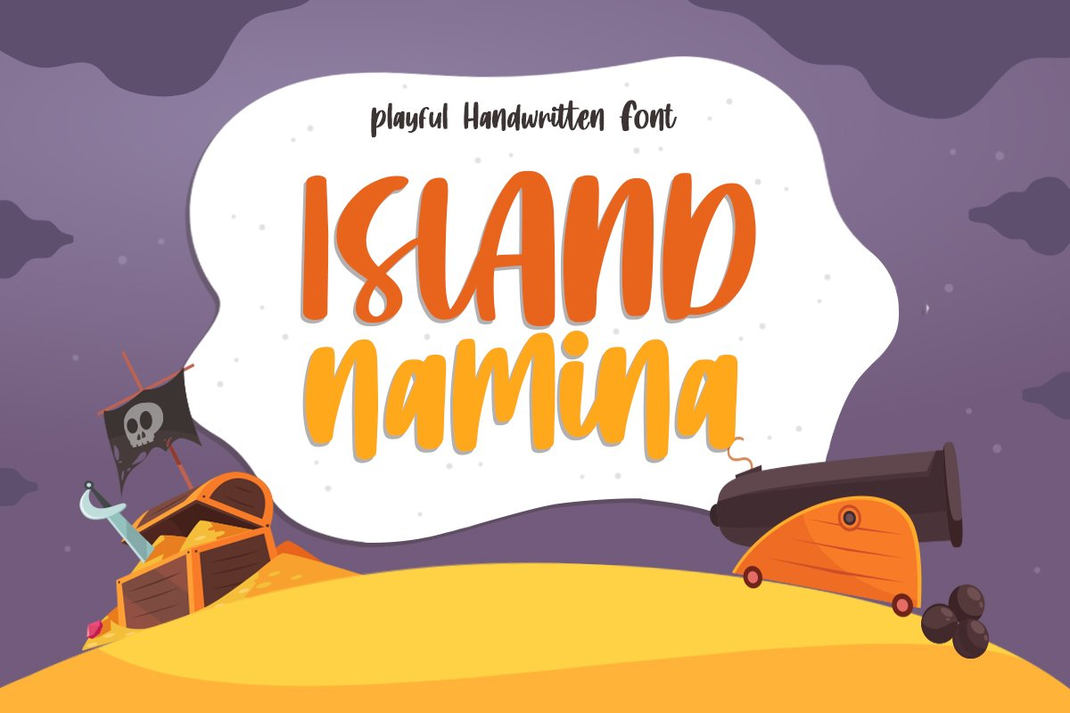 Island Namina - Playful Handwritten Font example image 1