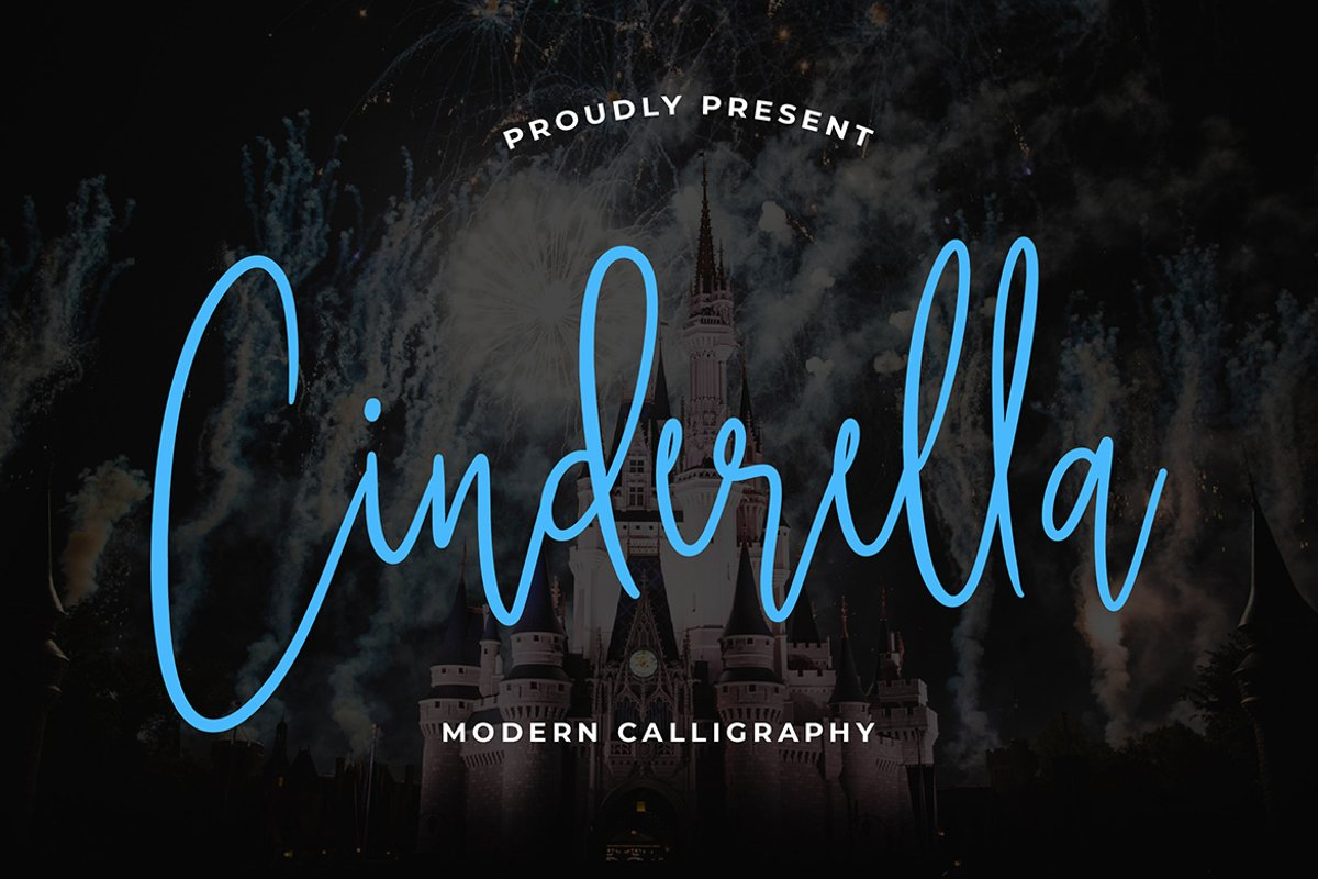 Cinderella Calligraphy Font example image 1