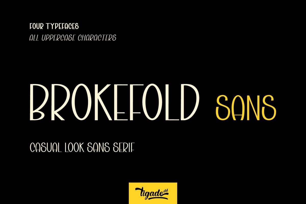 Brokefold Sans example image 1