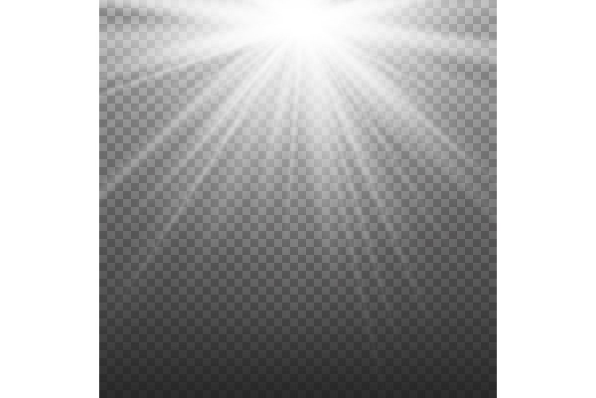 Glow Light Effect. Beam Rays Vector. Sunlight Special Lens example image 1