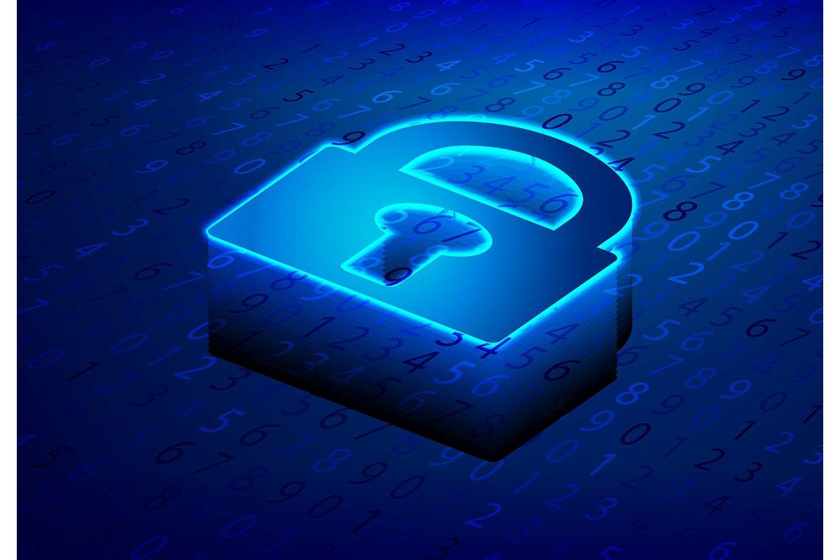 Isometric Lock, Padlock, Keyhole. Cyber security and informa example image 1