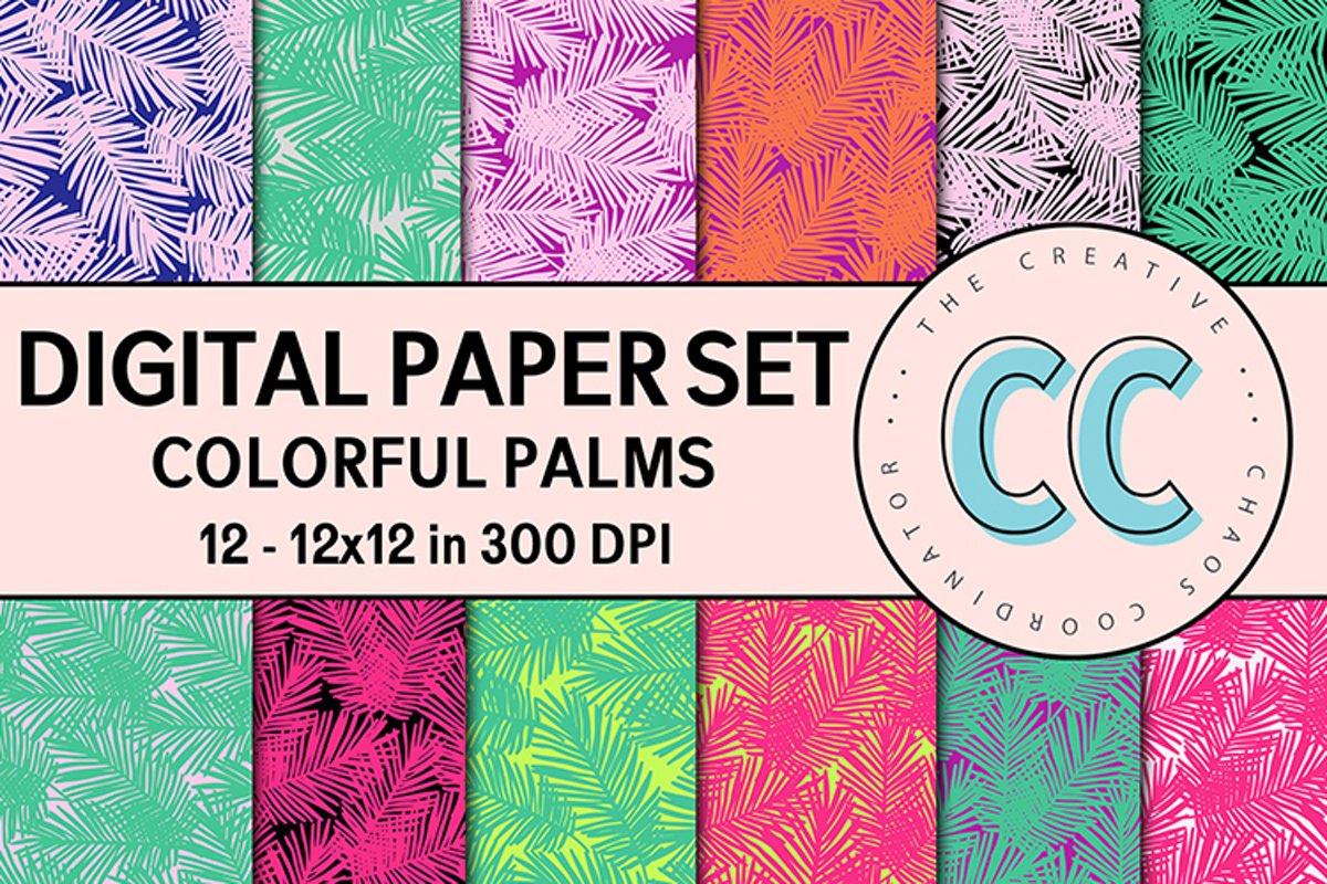 Damask Patterns - Digital Paper Pack example image 1