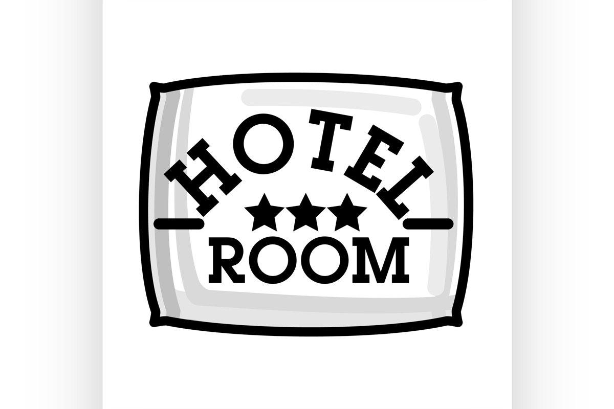 Color vintage hotel emblem example image 1