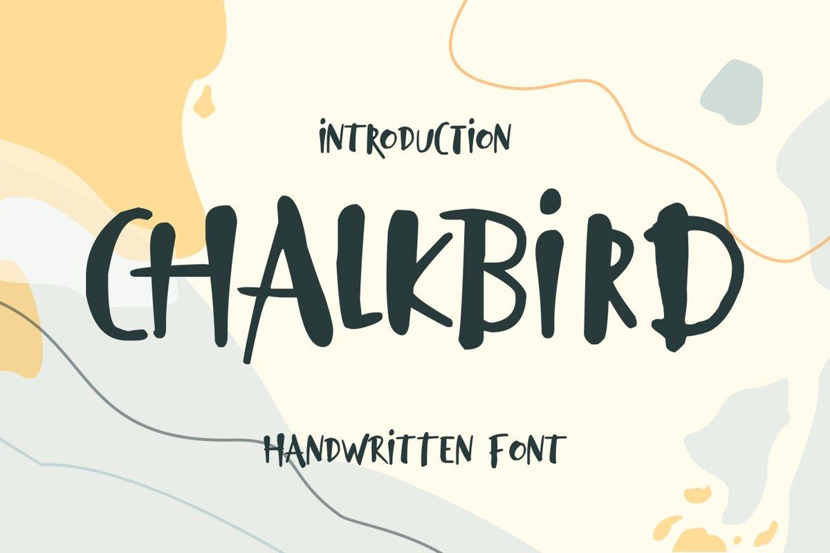 Chalkbird Handwritten Font example image 1
