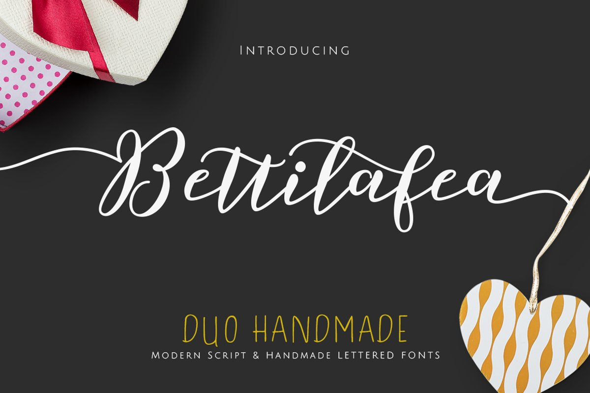 Bettilafea Fonts Duo example image 1