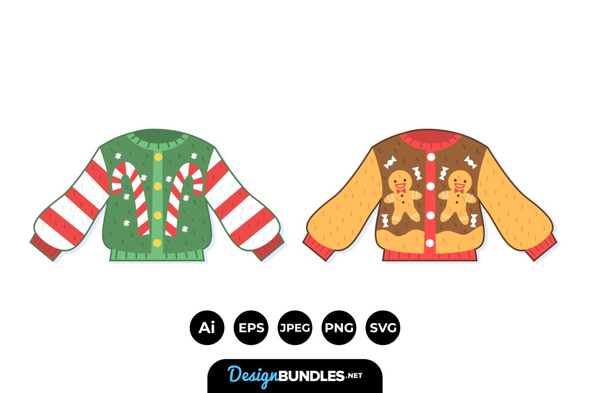 Hand Drawn Ugly Sweater example image 1