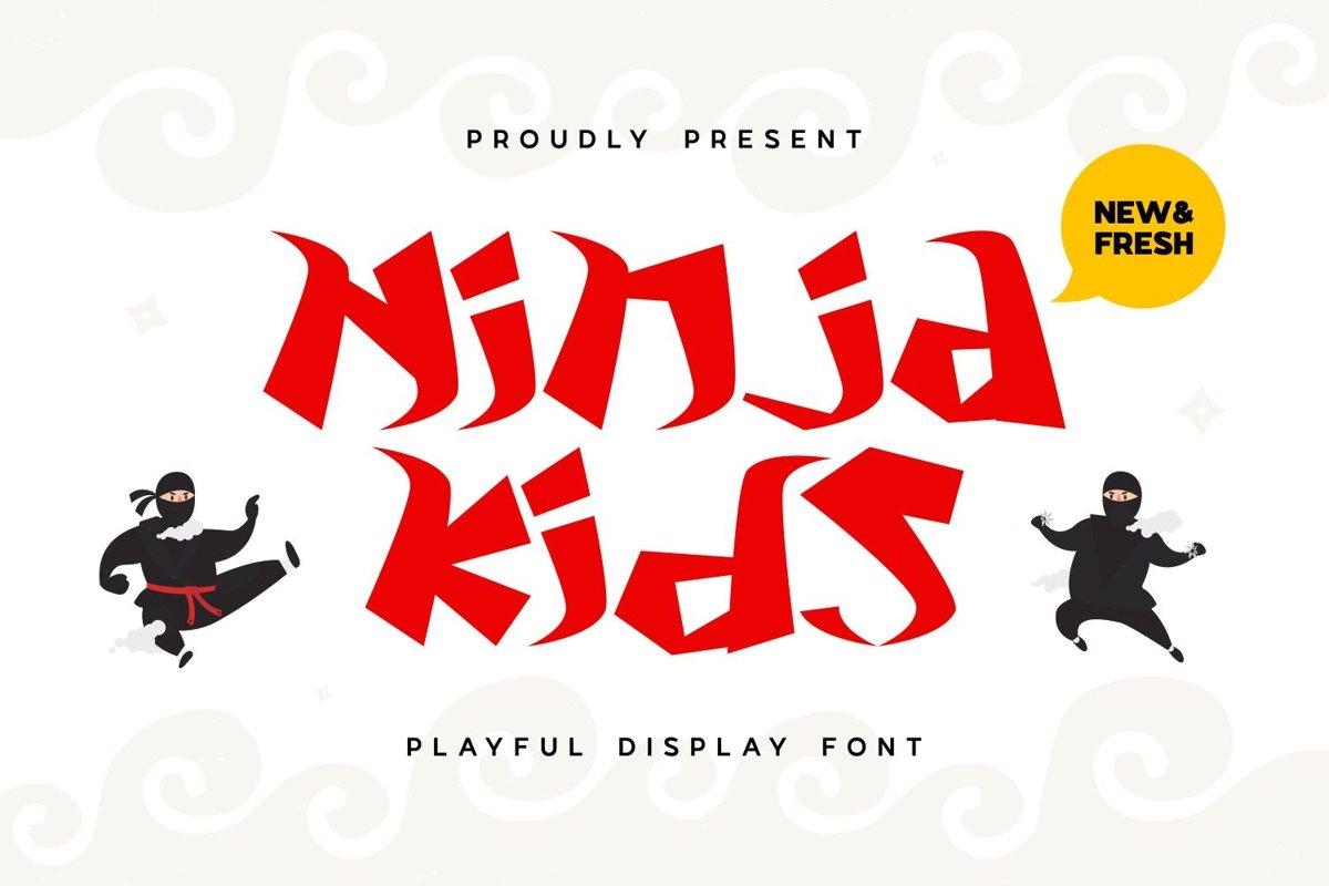 NinjaKid - Playful Display Font example image 1