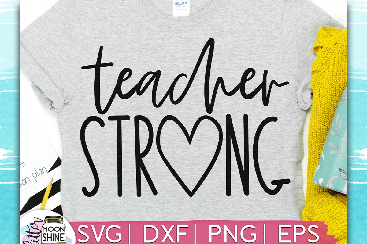 Teacher Strong SVG DXF PNG EPS example image 1
