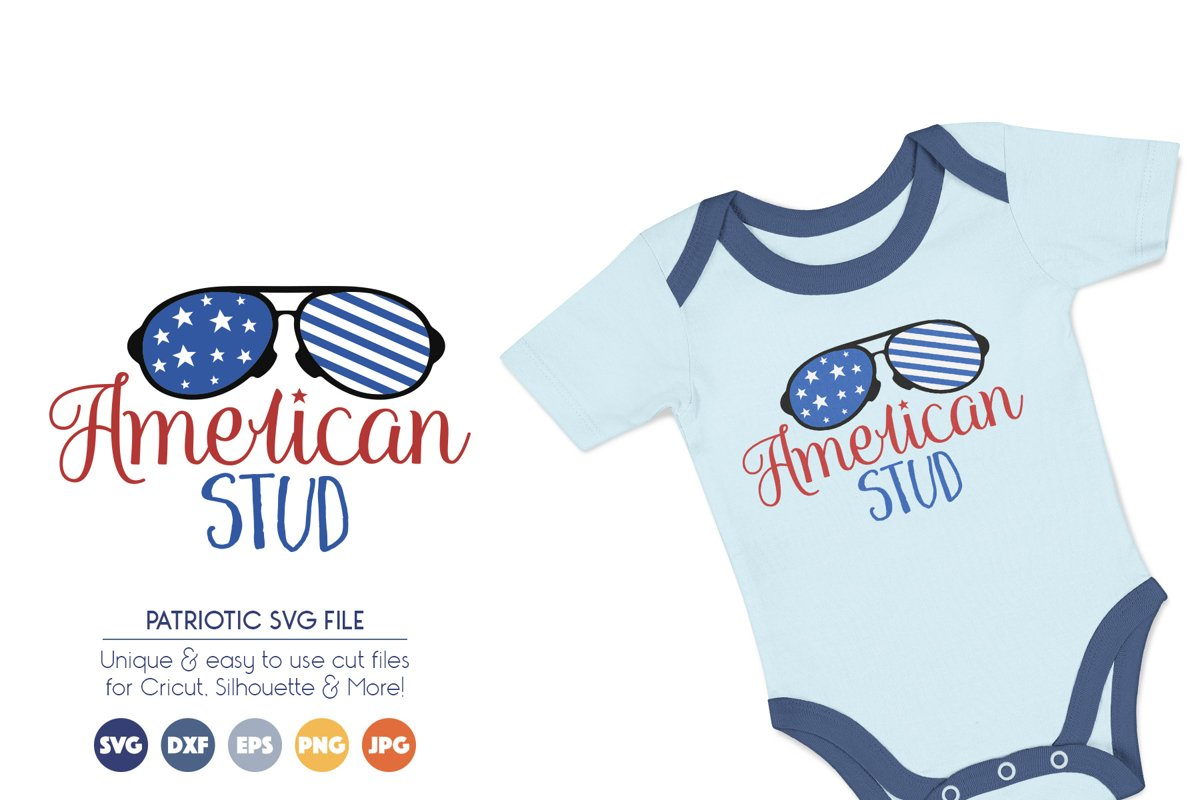 Patriotic SVG Cut Files - American Stud example image 1