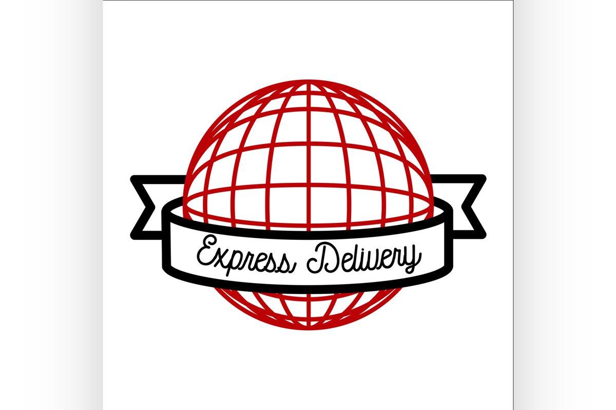 Color vintage express delivery emblem example image 1