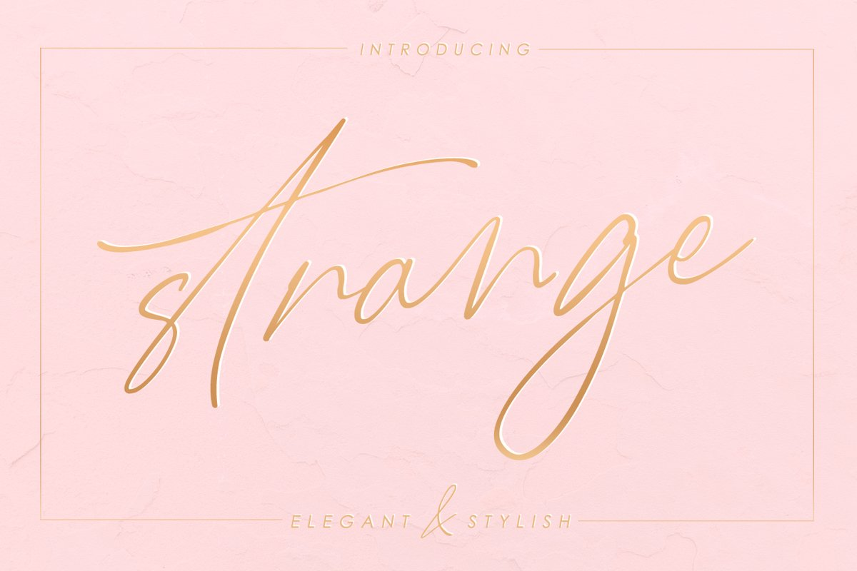 Strange - elegant & stylish example image 1