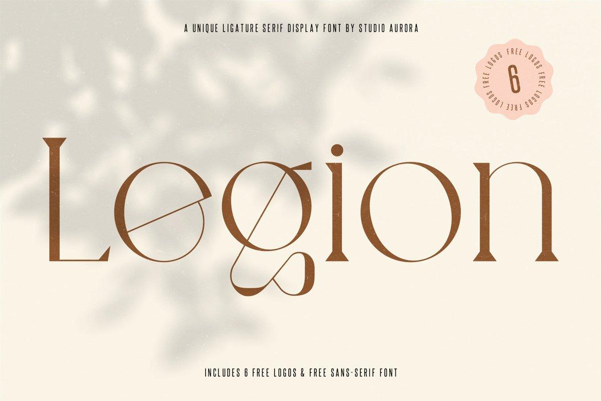 Legion - Ligature Display Serif Font example image 1