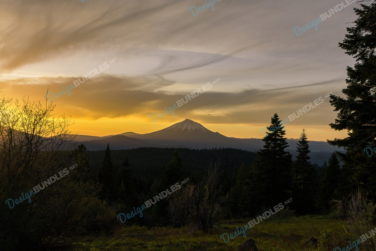 Stock Photo - Scenic View Of Mountains Against Sky example image 1