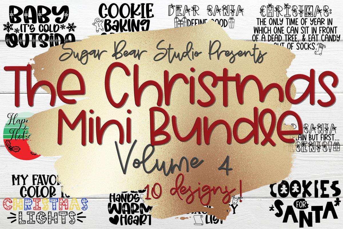 Christmas Mini Bundle Volume 4 - 10 Christmas SVGs example image 1