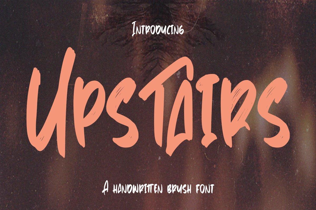 Upstairs - Handwritten Brush Font example image 1