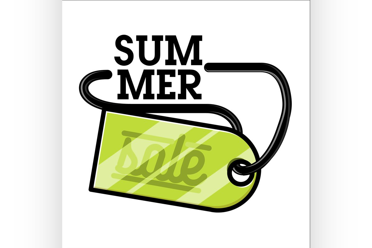 Color vintage summer sale emblem example image 1