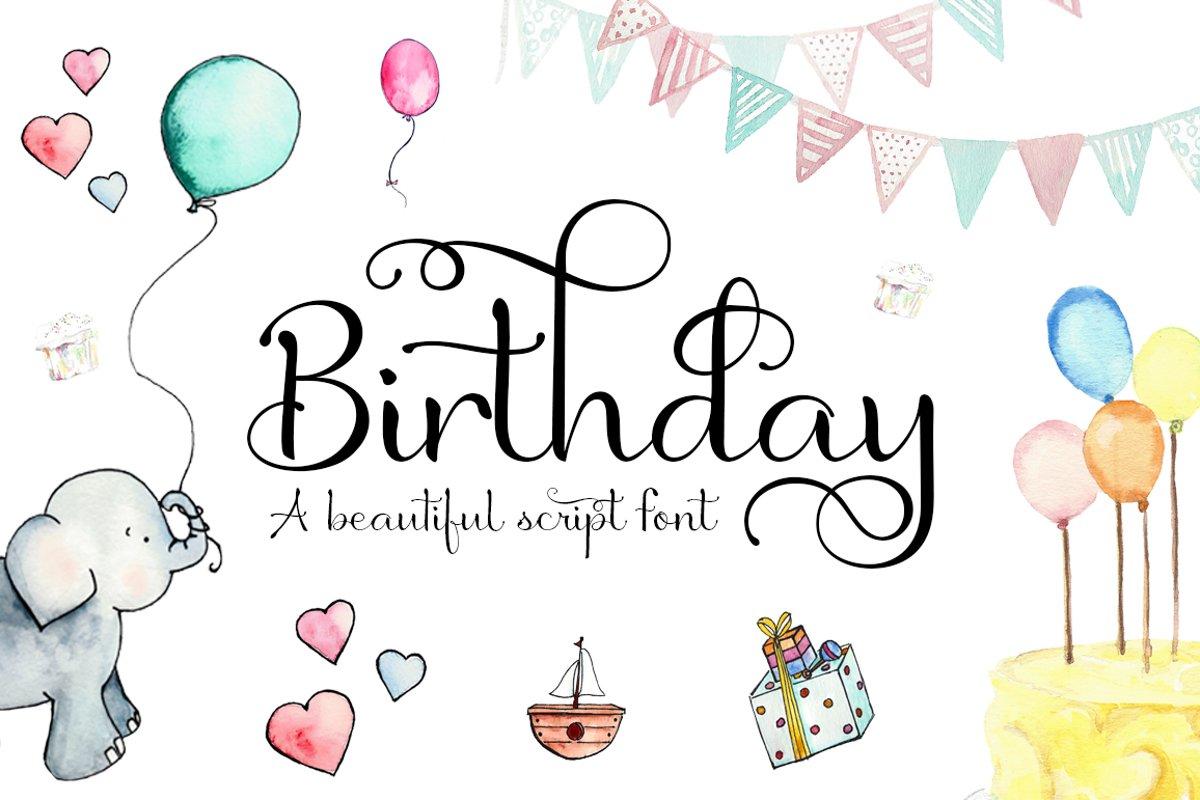 Birthday Script Font example image 1