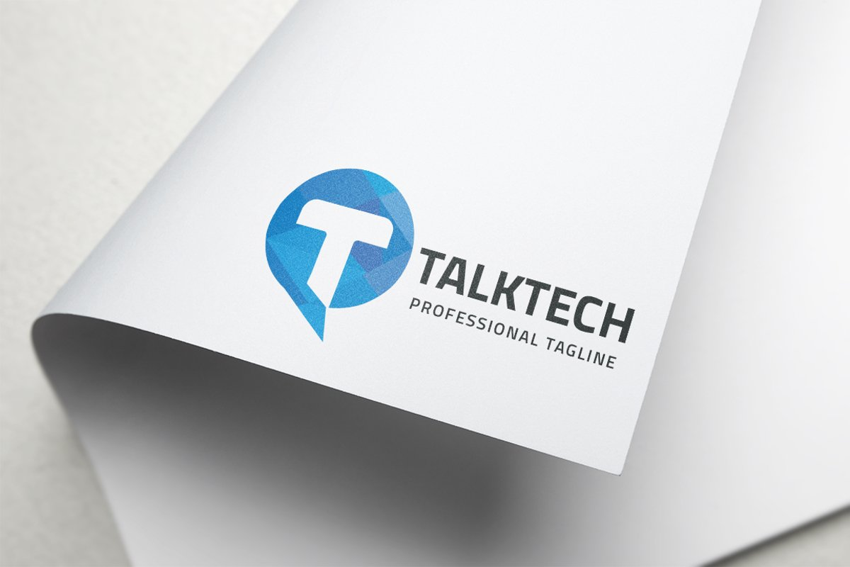 Talk Tech Letter T Logo example image 1