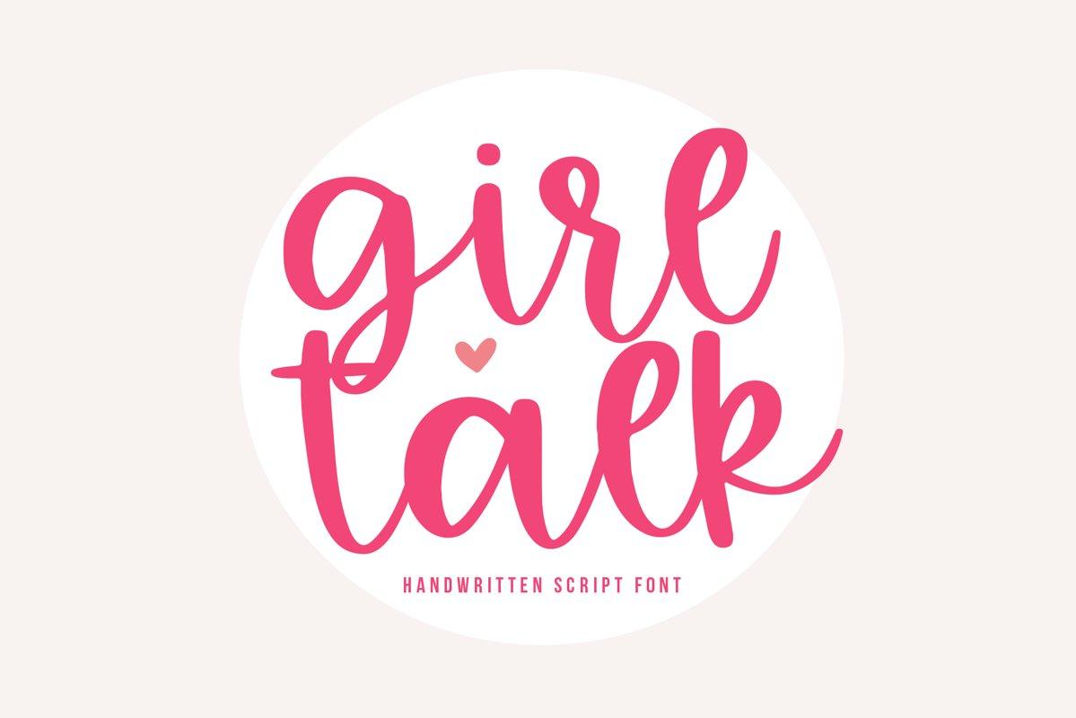 Girl Talk - A Handwritten Script Font example image 1
