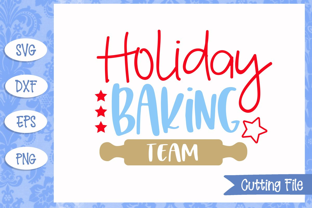 Holiday Baking Team SVG Cut File example image 1