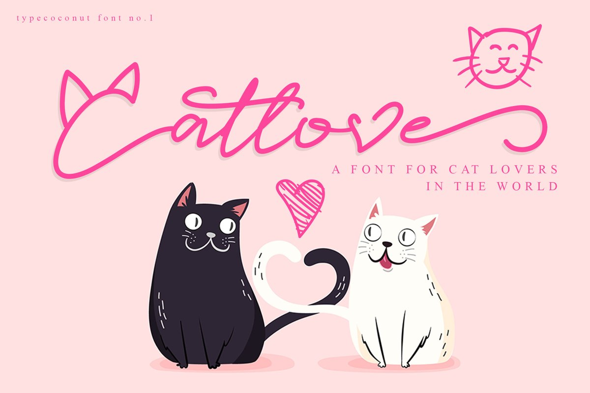 Catlove Lovely Font example image 1