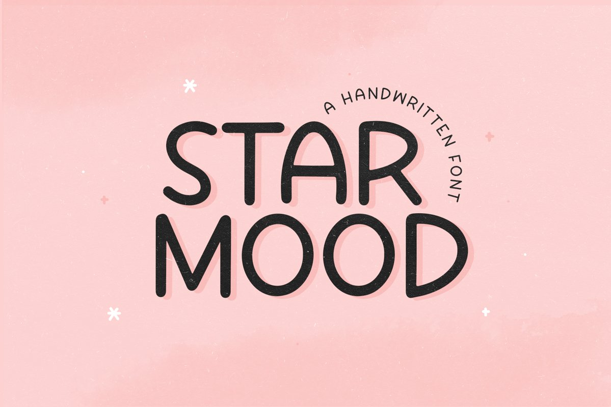 Star Mood - A Handwritten Font example image 1