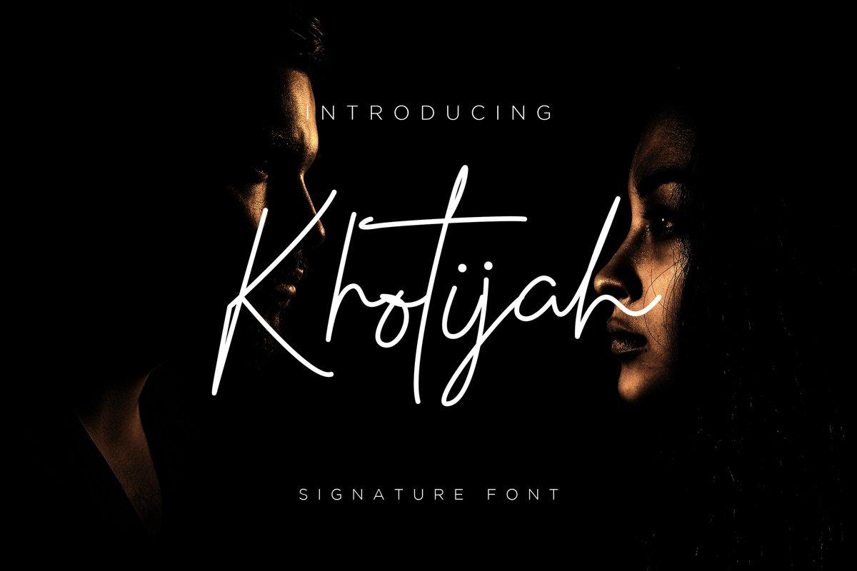 Khotijah Font script example image 1