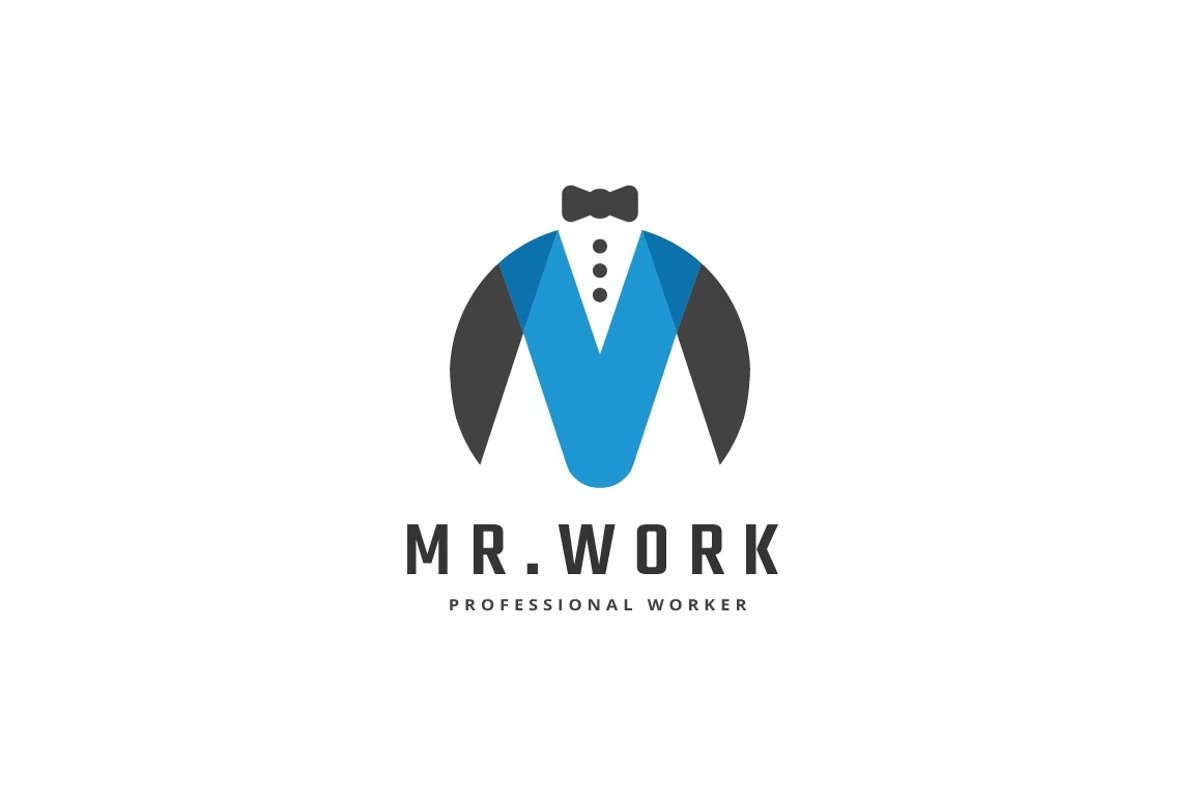 Mr. Work Letter M Logo example image 1