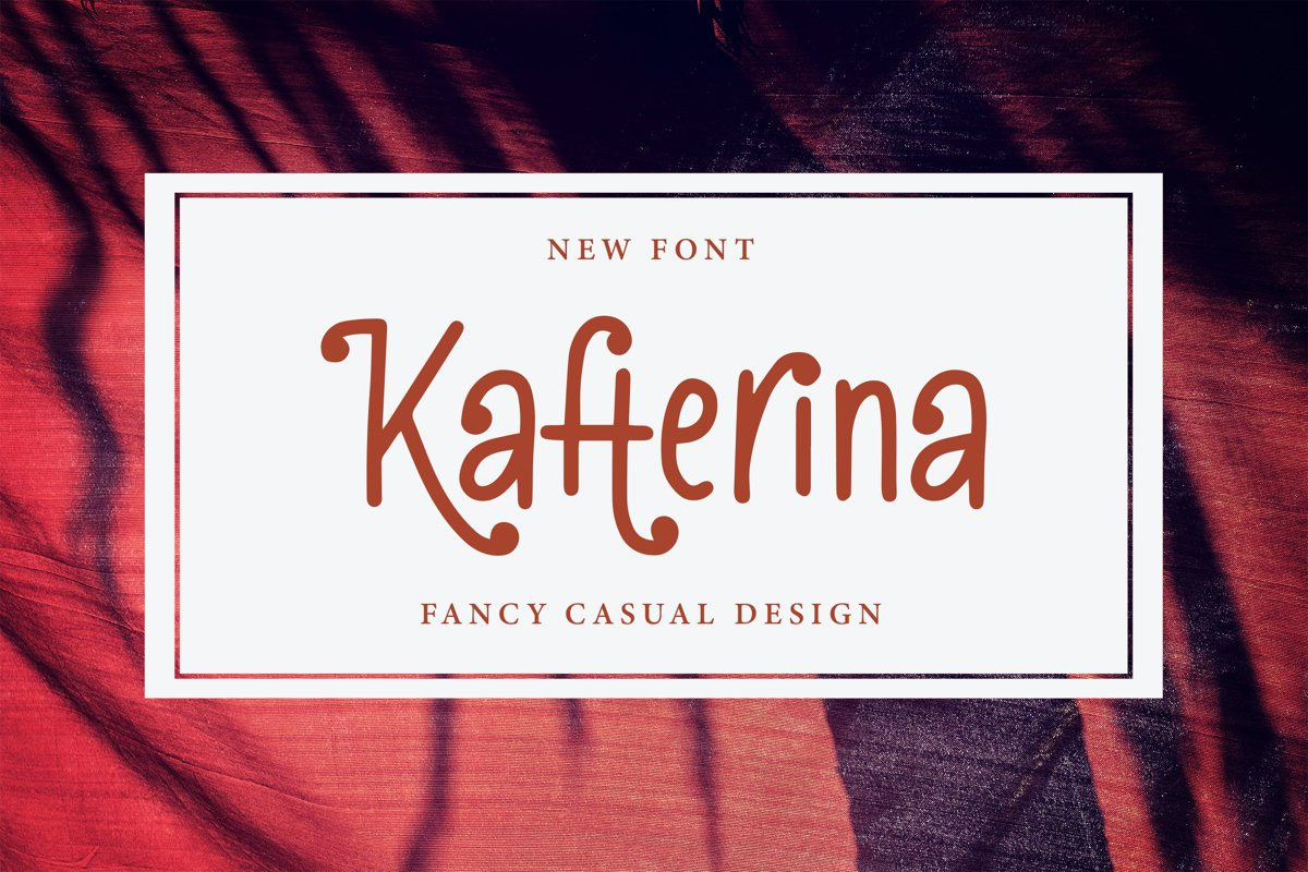 Kafterina - Fancy Casual Fonts example image 1