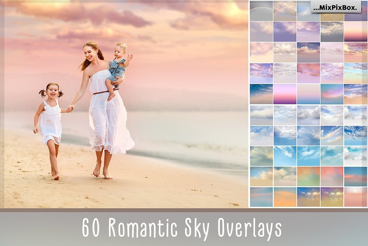 60 Romantic Sky Overlays example image 1