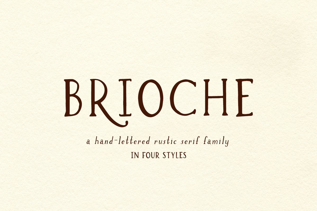 Brioche Rustic Serif Font Family example image 1
