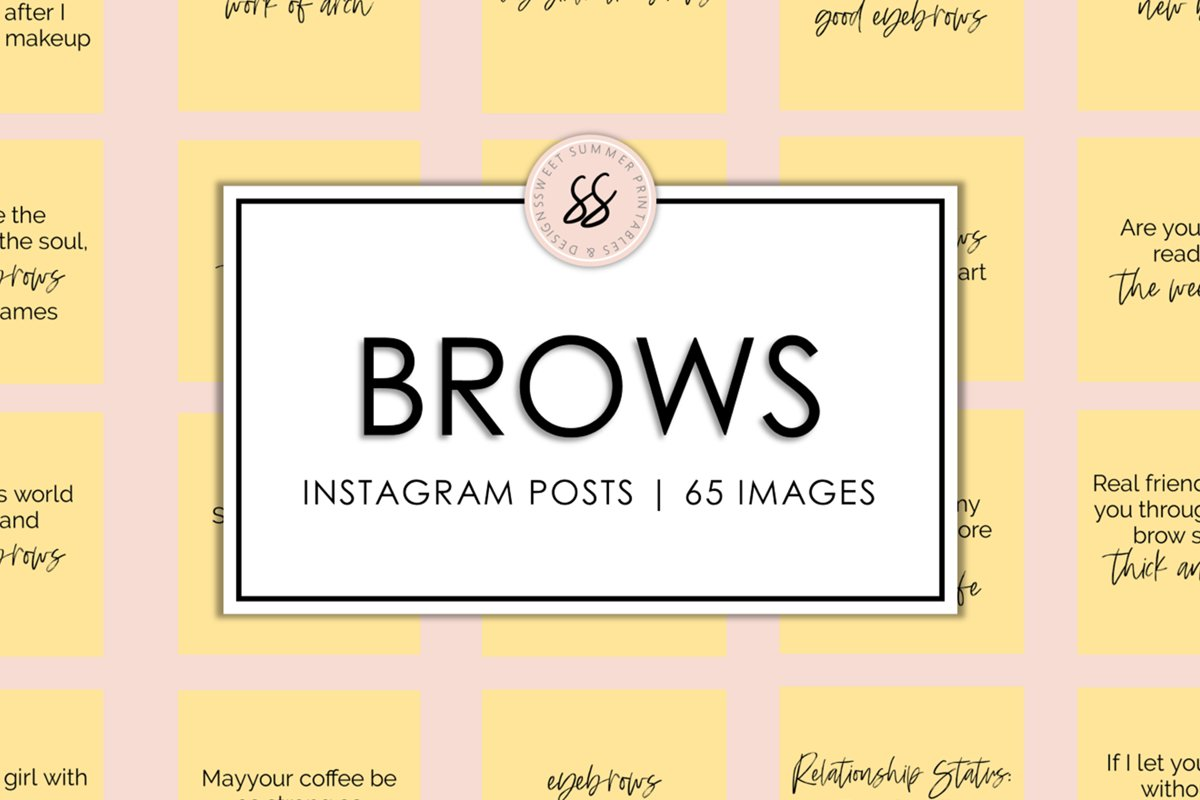 Brows Yellow Instagram Posts example image 1