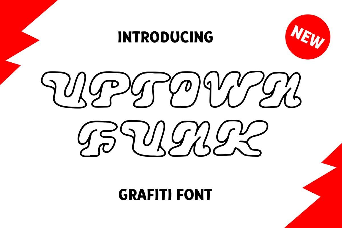Uptown Funk Graffiti Font example image 1