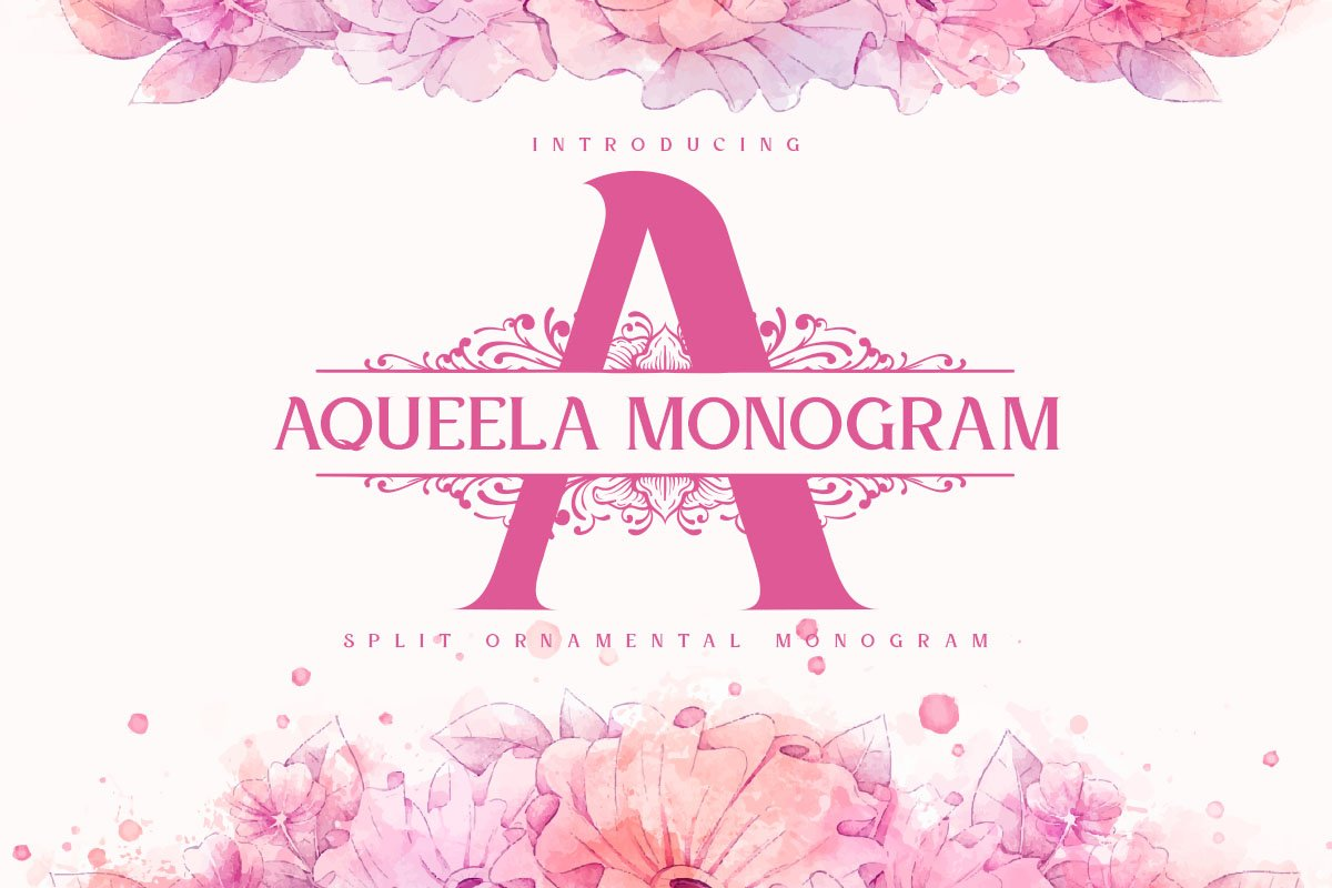 Aqueela Monogram Fonts example image 1
