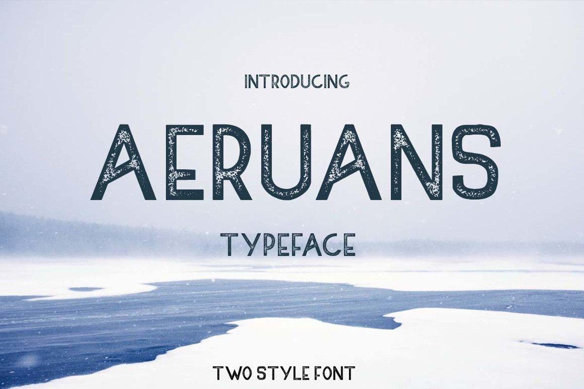 AERUANS TYPEFACE example image 1