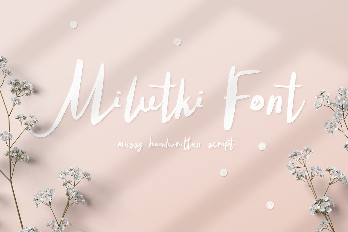 Milutki font example image 1