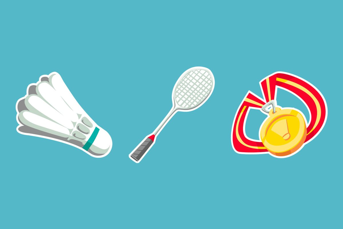 Badminton Sticker illustrations example image 1