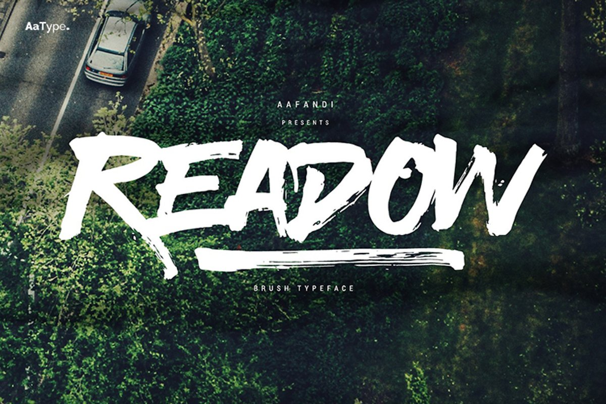 Readow Brush Font with Free Vector Pack example image 1