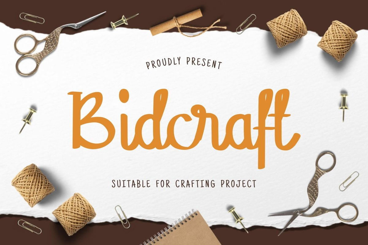 Bidcraft Display Font example image 1