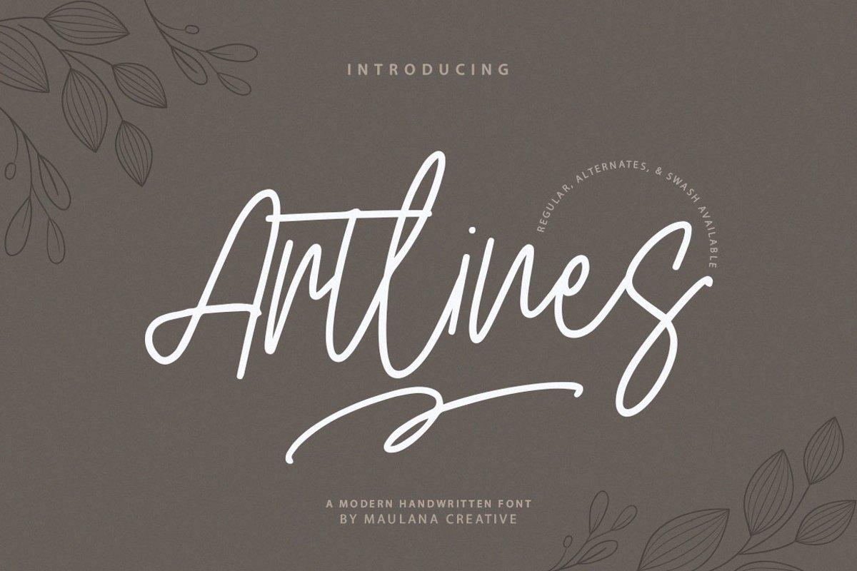 Artlines - Modern Handwritten Font example image 1
