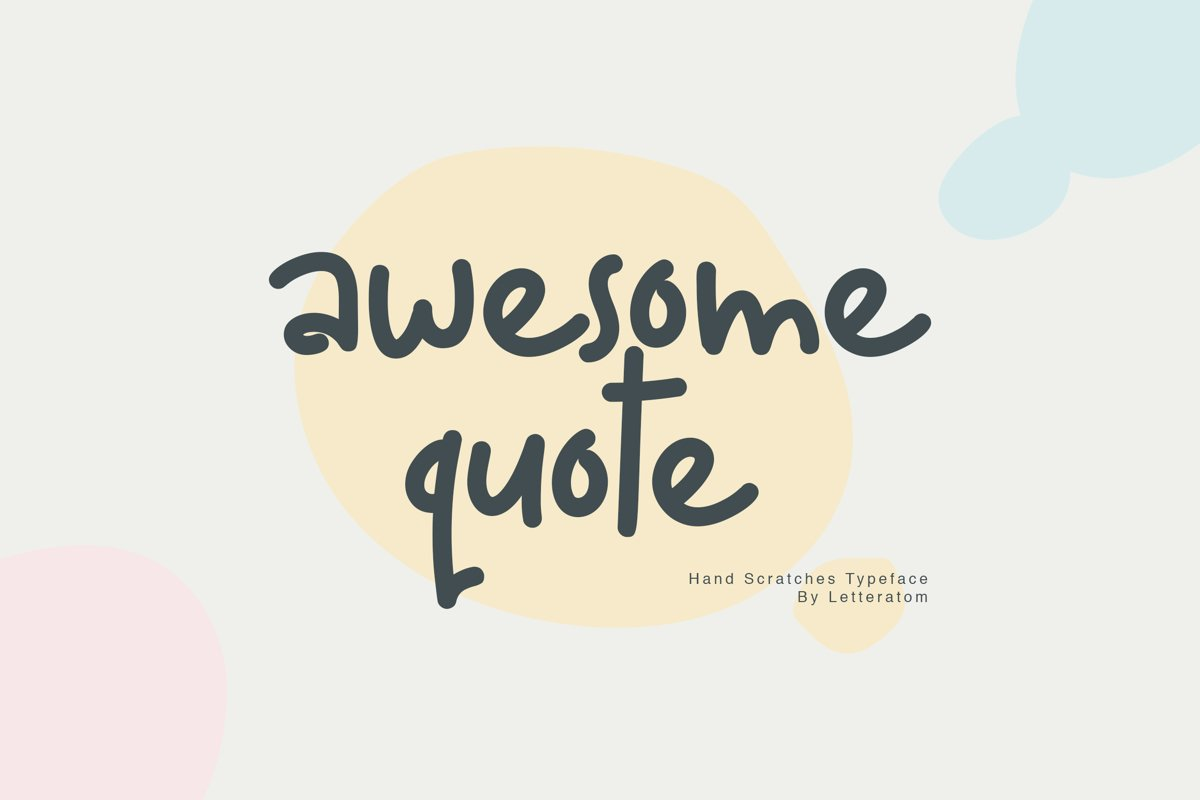 Awesome Quote Hand Scratches Typeface example image 1