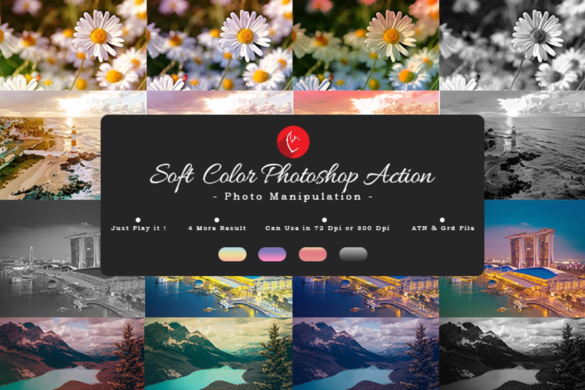 Soft Color Photoshop Action example image 1