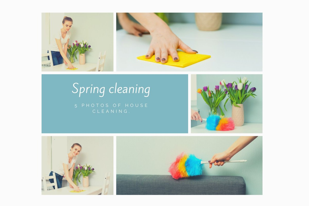 5 photos of house cleaning. example image 1
