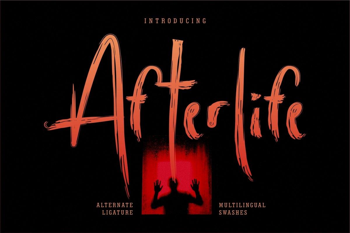 Afterlife - Brush Horror Font example image 1