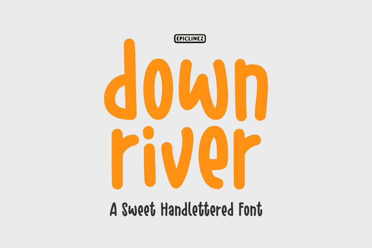 Down River - A Sweet Hand Lettered Font example image 1