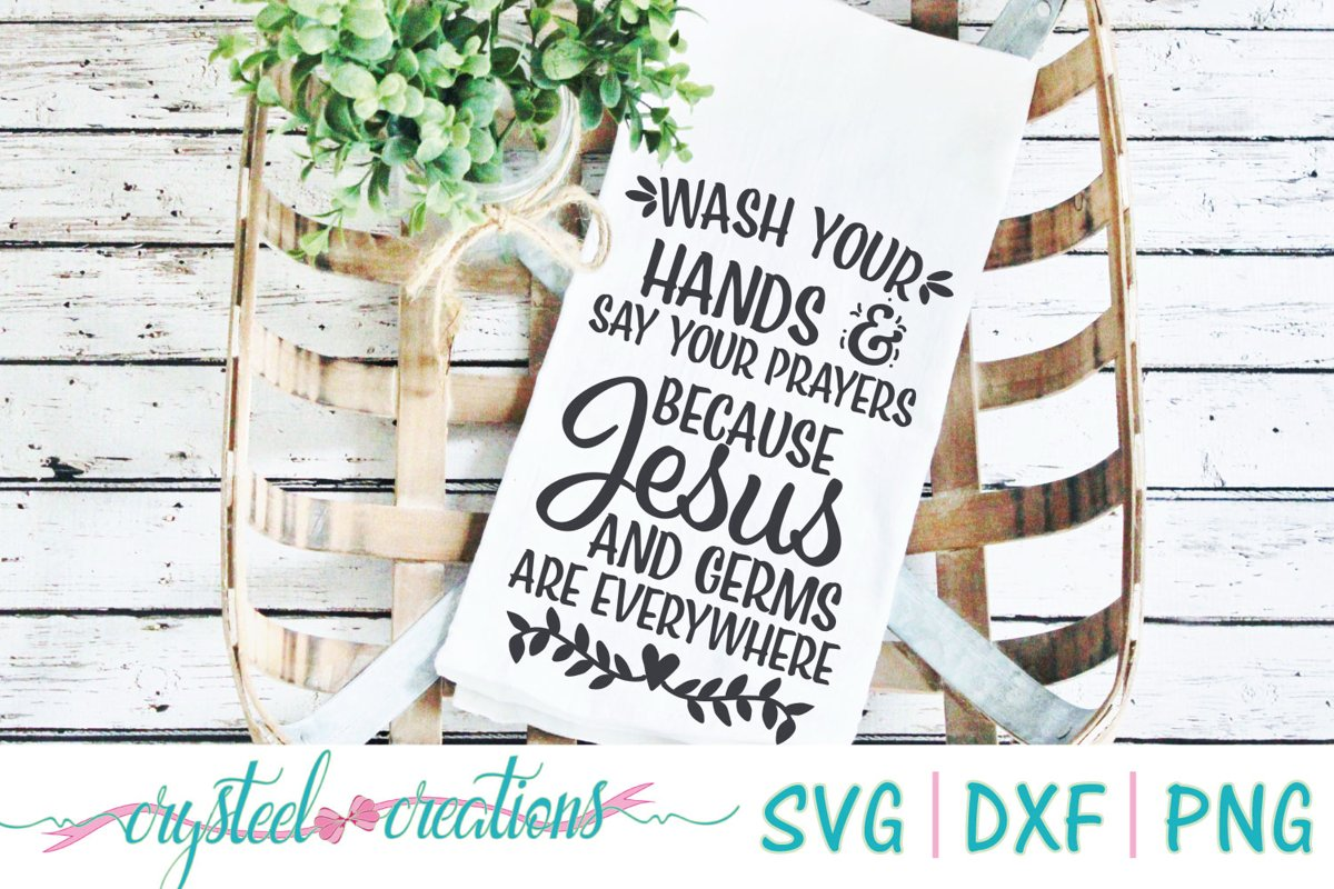 Wash your hands SVG, DXF, PNG example image 1