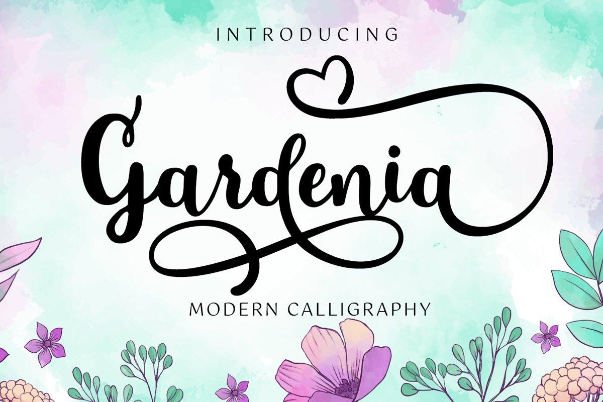 Gardenia Script example image 1